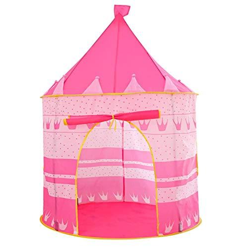 Seasons Shop Kinderspeeltent prinses tent speelhuisje met vloermat voor kinderen grote opvouwbare pop-up tent 105 × 135 cm voor kinderen Niñas Eco Friendly