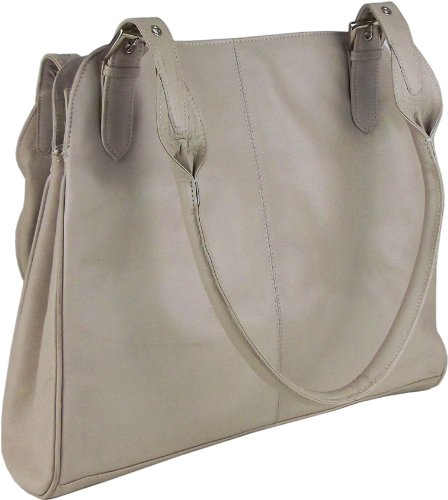 UNICORN Frauen Echt Leder Tasche A4 Notepad, ipad , kindle, Ebook oder Tablet Halter - Creme #5R