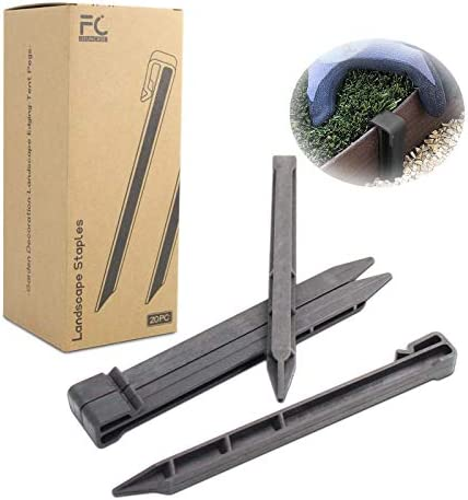 UFUNCASE Garden Stakes Black 20pc 10 Inch Plastic Landscape Edging Stakes Fits Most Brands Garden product image