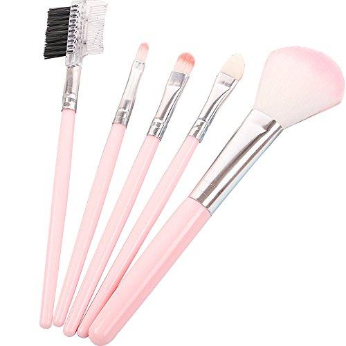 Gemini_mall Lot de 5 pinceaux de maquillage professionnels pour fond de teint, poudre pour le visage, blush anti-cernes pour les yeux, cosmétiques