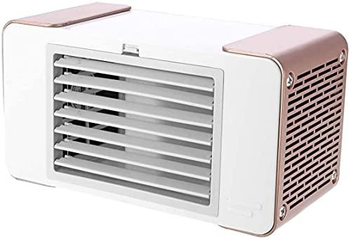 HEZHANG Ventilador de Refrigeración de Aire de Mesa Portátil Usb de 5 V, Máquina de Refrigeración de Verano, Equipo de Escritorio, Ahorro de Energía de Bajo Consumo para el Hogar, la Escuela, la Ofic