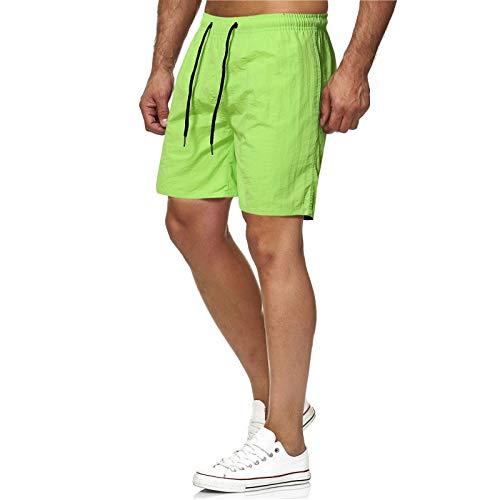 Pantalones Cortos Deportivos para Hombre Color sólido de Secado rápido Entrenamiento físico Tendencia Ropa de Calle Correr Senderismo Pantalones Cortos de Moda Casual XXL