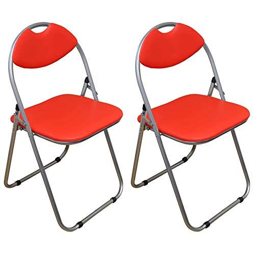 Klappstuhl - gepolstert - Rot - 2 Stück