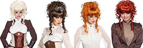Ladies wig short curly, copper