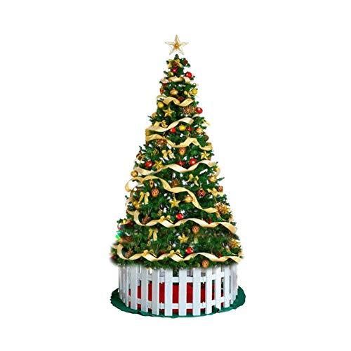 L&WB Sapin De Noël Artificiel À Charnière en Épicéa, Montage Facile Arbre De Pin Vert De Noël Arbre De Noël Écologique Pieds Métalliques,180Cm