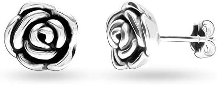 HIKARO Sterling Silver Jewelry Light-Weight Stud Earrings for Teen Women