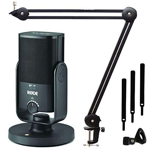 Rode NT-USB Mini - Micrófono de condensador para estudio (incluye brazo de micrófono keepdrum MS138)