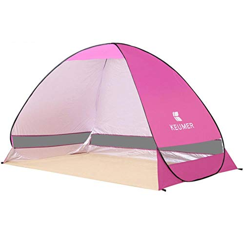 YRDDJQ Automatic Pop Up Instant Tent Portable Outdoors Quick Cabana Beach Tent Anti UV Sun Shelter For Fishing 2 Person Sandbeach Play,Pink