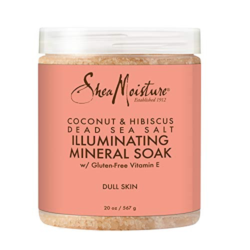 Sheamoisture Illuminating Mineral Soak Sea Salt Soap for Sensitive Skin Coconut & Hibiscus Coconut Oil Soap 20 FO