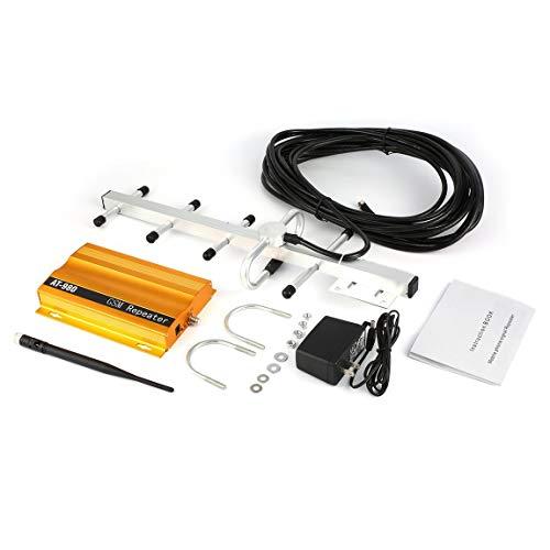 SeniorMar-UK Amplificador repetidor Amplificador de señal de teléfono móvil gsm 900mHz + diseño de Puerto único dúplex Completo aéreo Yagi AT-980