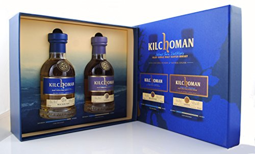 KILCHOMAN Gift Set 1xMachir Bay 0,2L + 1x Sanaig 0,2L je 46%Vol Islay Single Malt Whisky