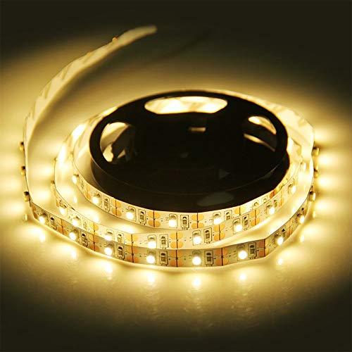 H/A DC 5V / 6V LED Luces de Tira Luces de TV con alimentación USB Luces de decoración de Escritorio de Navidad 5M SMD 3528 Luces de Fondo de TV AZHAA (Color : USB Port, Emitting Color : Warm White)