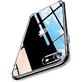 Humixx For iPhone SE ケース [第2世代] / iPhone8 / iPhone7 ケース 日本旭硝子製 黄変防止 にじみ防止 9H強化ガラス背面+TPUバンパー 衝撃吸収 滑り止め レンズ保護 ワイヤレス充電対応 クリアケース
