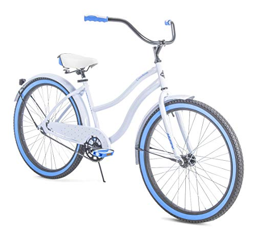 """Huffy 26"""" Womens' Cranbrook Cruiser Bike with Perfect Fit Frame [White]"""