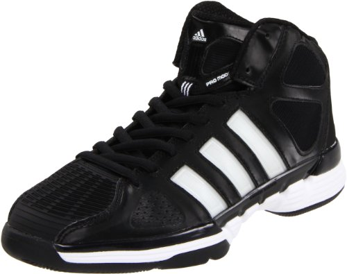 adidas Men's Pro Model Zero Basketball Shoe,Black/Running White/Metallic Silver,7 M US