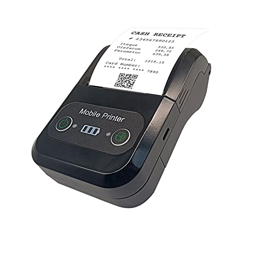 F2C CX588 58mm Thermal Receipt Printer Portable Mini Wireless Bluetooth 2 inch Thermal USB Receipt Printer with 2500mAh Rechargeable Battery, Compatible with Windows Android iOS