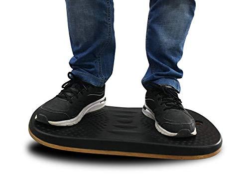 Licloud Standing Desk Mat- Ergonomic Anti-Fatigue Comfort Floor Mat for Office & Workstation with Massage Ball, Black