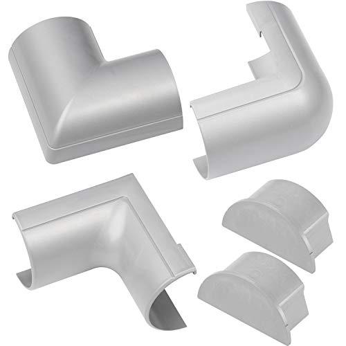 D-Line 50x25mm Maxi Cubierta de Cable Accesorios - Efecto Aluminio
