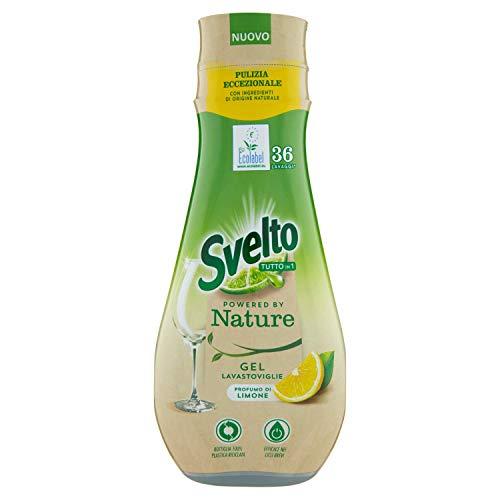 Svelto Ecolabel - Gel para lavavajillas con limón, paquete ahorro, 216 lavados