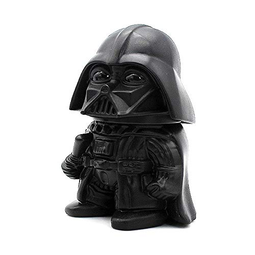 Vader Inspired Grinder with Pollen Catcher - 64mm Zinc Alloy Herb and Spice Grinder with Pollen Catcher - Great Gift for Collectors and Fans