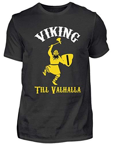 generisch Viking Till Valhalla - Viking à Walhalla (jusqu'à Mort) - Odin Thor Asgard - T-Shirt pour Homme - Noir - XX-Large