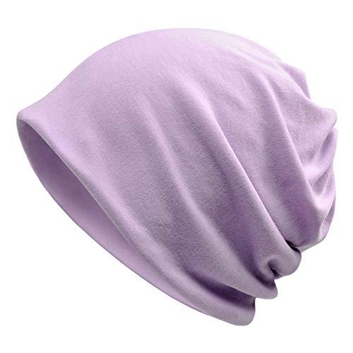 Goddness Bar Bonnet de Sommeil élégant Beanie Hat Scarf Casquette Polyvalente pour Le Plein air, Le Cyclisme, Les Cheveux crépus (A30)