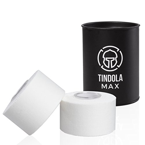 Tindola MAX® Sporttape - Sport Tape Weiß 2 Rollen mit...