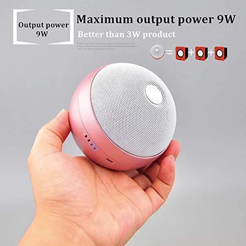 Wireless Mini Bluetooth Speaker- Portable, Desktop Computer/Laptop/Outdoor/subwoofer/TV/Mic/Remote Smart Speaker Big Power 10W System TF FM Radio Speakers (Powder)