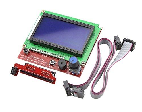 Kentop LCD 12864 Smart Display Controller con adattatore + cavo per stampante 3D RAMPS