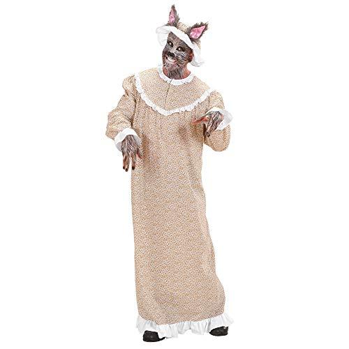 Widmann - Kostüm Oma mit Wolfmütze, Kleid, Mütze, böser Wolf, Großmutter, Mottoparty, Karneval
