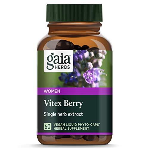 Gaia Herbs Vitex Berry, Chasteberry, Hormone Balance for Women, Vegan Liquid Capsules, 60 Count