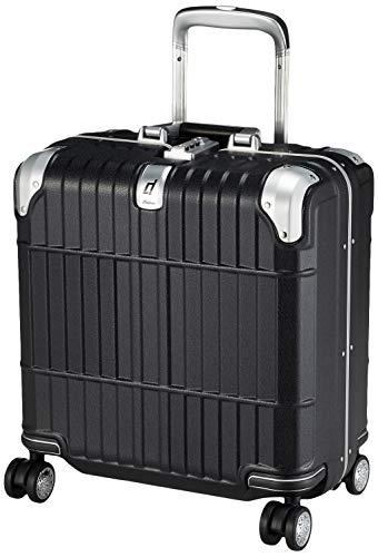 [エー・エル・アイ] スーツケース departure ハードキャリー 機内持ち込み可 保証付 31L 2.8kg レザーマットブラック