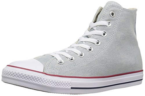 Converse Unisex Chuck Taylor All Star Denim High Top Light Blue/White Brown Sneaker - 15 Men - 17 Women