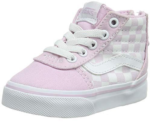 Vans Ward Hi Zip, Zapatillas Unisex bebé, Rosa ((Checkerboard) Lilac Snow V2q),...