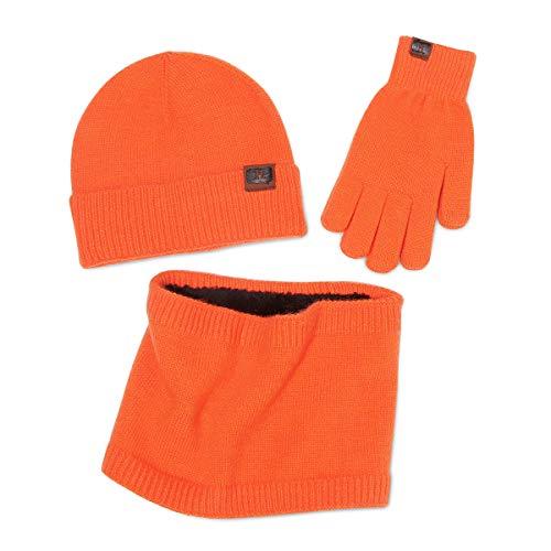 LumiSyne Winter 3 In 1 Mütze Schal Handschuh Sets Für Herren Damen Touchscreen Handschuhe Beanie Strickmütze Schlauchtuch Infinity-Schal Weicher Warme Angora Stoff