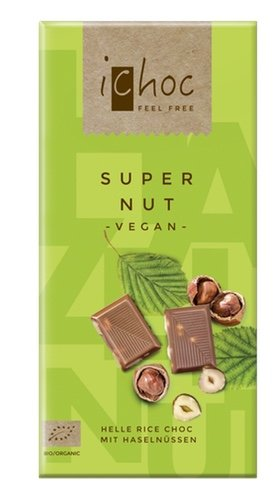 Ichoc Super Nut, vegane Schokolade, BIO