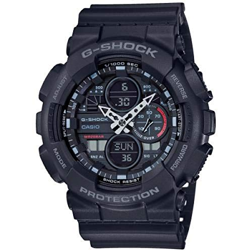 CASIO Herren Analog – Digital Quarz Uhr mit Resin Armband GA-140-1A1ER