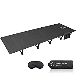 cheap HITORHIKE Camping Bed Compact Folding Bed-Outdoor Hiking Bed Camping Bed (Black)