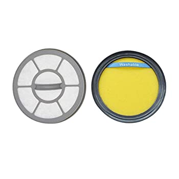 EZ SPARES 2Pcs Replacements for Eureka DCF25 & EF7 Filter Bundle for Fits SuctionSeal Airspeed for 67600 Replaces Parts 67600 & 68657,Upright Vacuums Attachment Parts