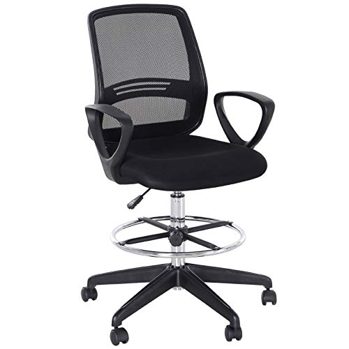 Vinsetto Ergonomic Mesh Back Drafting Chair Tall Office Chair with...