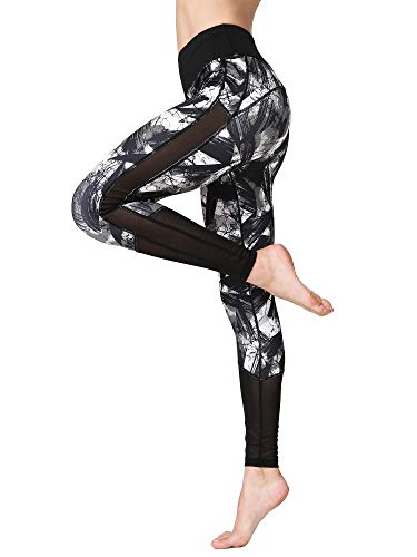 FLYILY Women Yoga Pants Printed High Waist Power Flex Capris Workout Leggings for Fitness...