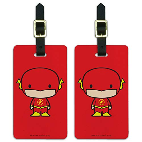 The Flash Cute Chibi Character Luggage ID Tags Carry-On Cards - Set of 2