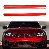 1 Par Bandas Rejilla, Embellecedores Rejilla para B-MW 1 Serie 2 Serie 3 Serie 4 Serie F30 F31 F32 F34 F35 F36 G20 G21 G28 G29 F20 F21 F22 F23 F24 F44 F40 2012-2018 Accesorios de Automóvil (Rojo)