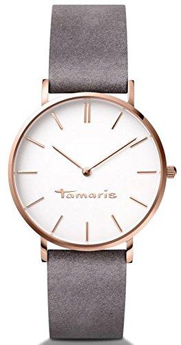 Tamaris Damen-Armbanduhr Daniela Analog Quarz Leder B01217010