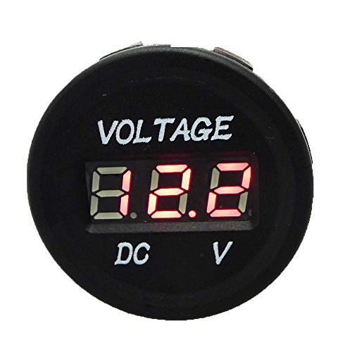 Check Out This GEREE DC 12V Waterproof LED Digital Display Voltmeter for Boat Marine Vehicle Motorcy...