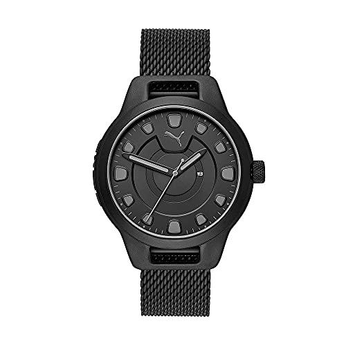PUMA Herren Reset Date, Schwarz Uhr, P5007