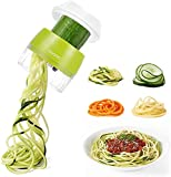 Cortador de verduras en espiral 4 en 1, espiralizador de verduras, verduras, espagueti, mandolina, cocina para calabacines,...