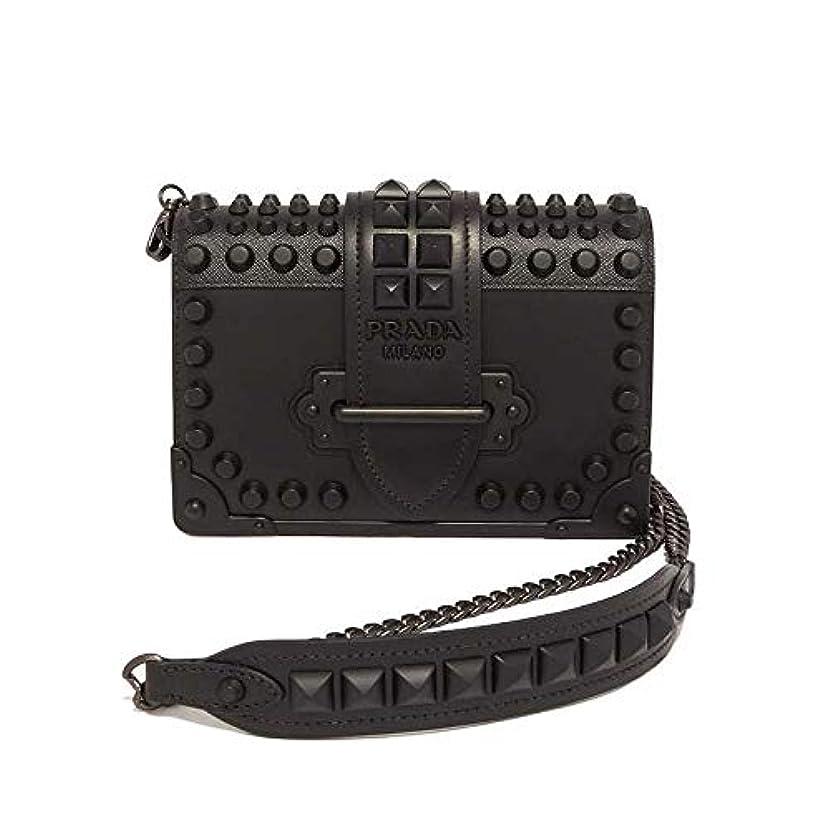 の量狂う部分的にPRADA ショルダーバッグ Cahier Leather Shoulder Bag 1BH0182BB0 レディース NERO1 F0632 プラダ [並行輸入品]