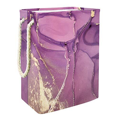 Lila mysteriöse Romanze Spielzeug Aufbewahrungsbox Mit Weichem Griff Zusammenklappbar Für Kinderzimmer Spielzimmer 49x30x40.5 cm