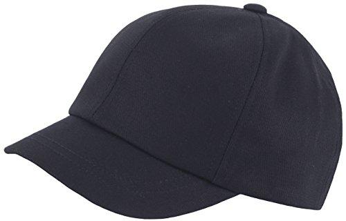 RaOn B409 Empty Plain Ball Cap Cute Short Bill Design Cotton Baseball Hat Truckers (Black)